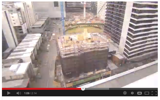 Time lapse video of the construction of Forte in Australia.
