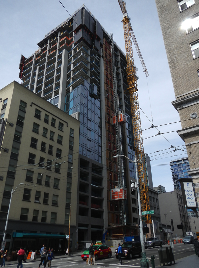 Viktoria on 2nd Ave in downtown Seattle is under construction.