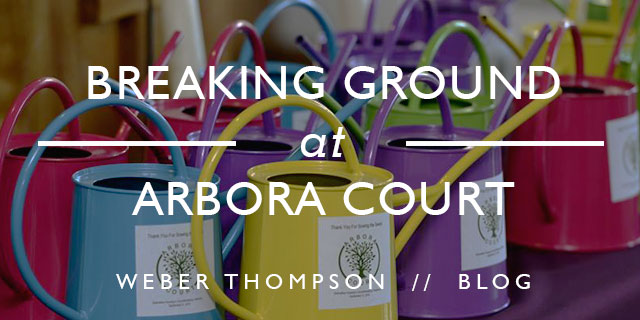 Breaking Ground at Arbora Court