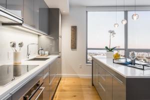 The kitchen in the Nexus Sales Center