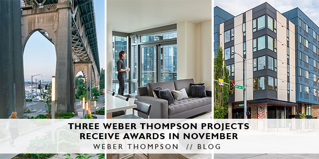 Weber Thompson receives three awards in November