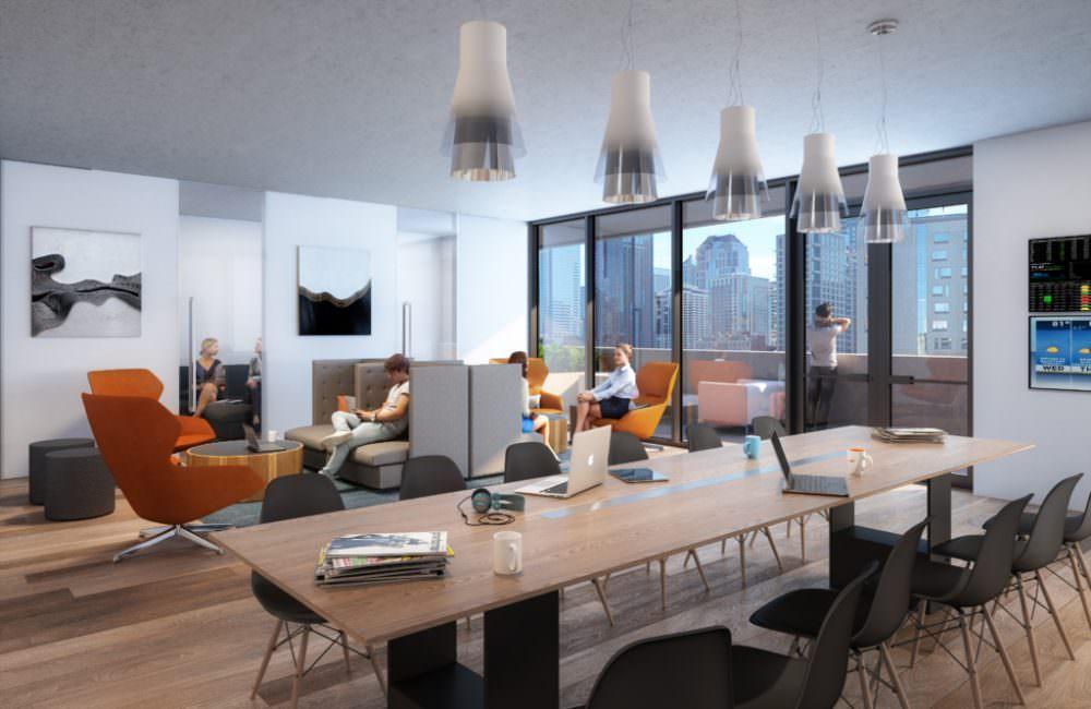 Nexus co-working space rendering