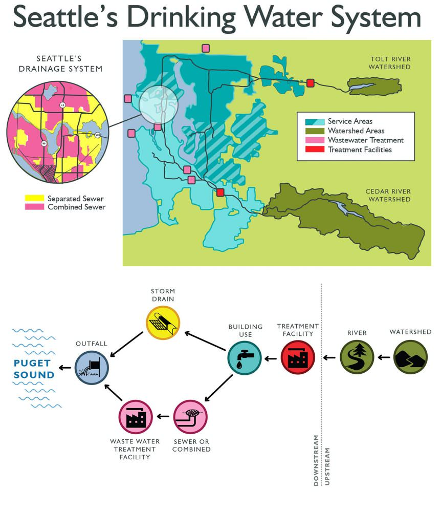 Seattle's Drinking Water Systems infographic