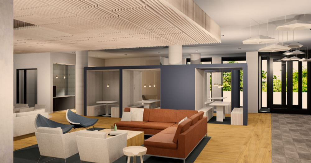 Trailside interiors Study Cubes rendering