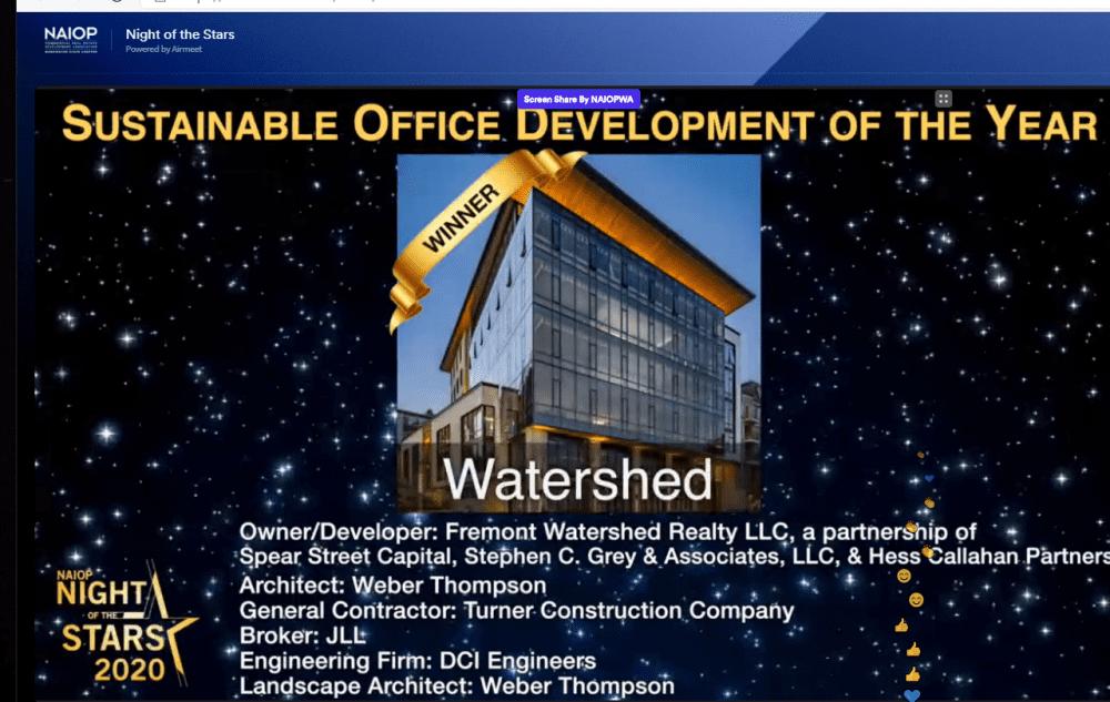 Watershed NAIOP Award win