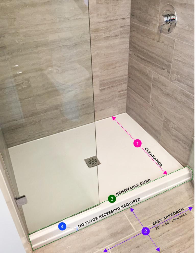 Shower pan diagram