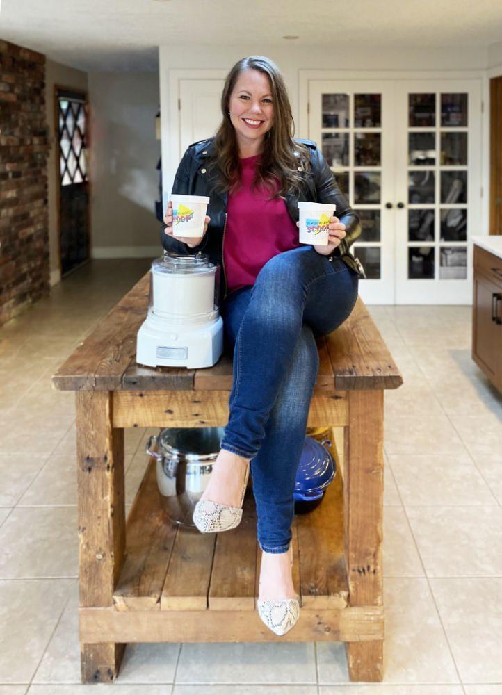 Monica Knapp with ice cream photo